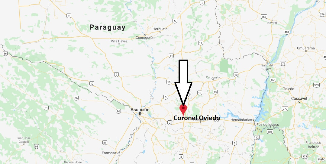 Where is Coronel Oviedo Located? What Country is Coronel Oviedo in? Coronel Oviedo Map