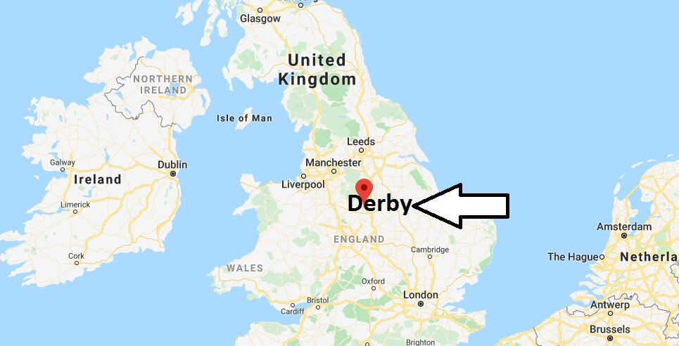Where is Derby Located? What Country is Derby in? Derby Map