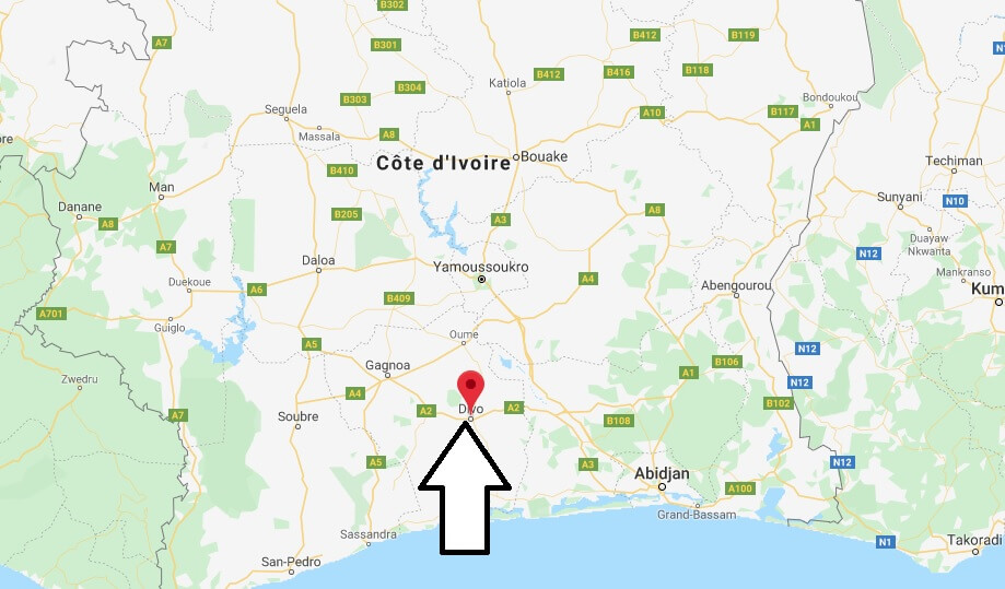 Where is Divo, Cote D'Ivoire Located? What Country is Divo in? Divo Map