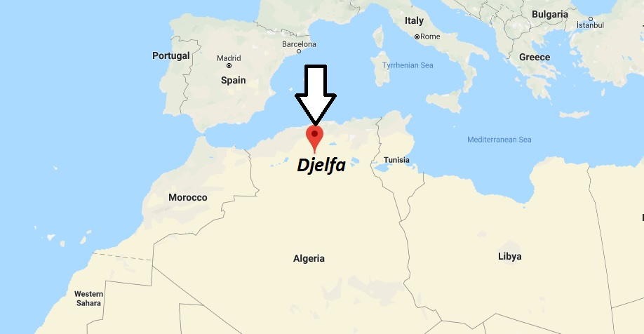 Where is Djelfa Located? What Country is Djelfa in? Djelfa Map