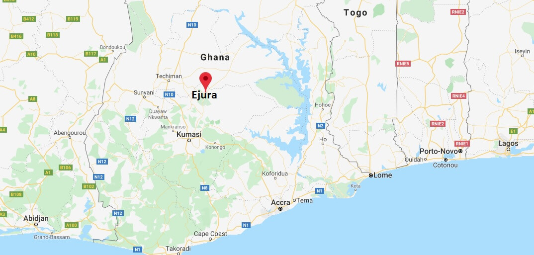 Where is Ejura Located? What Country is Ejura in? Ejura Map
