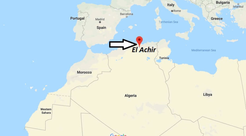 Where is El Achir Located? What Country is El Achir in? El Achir Map