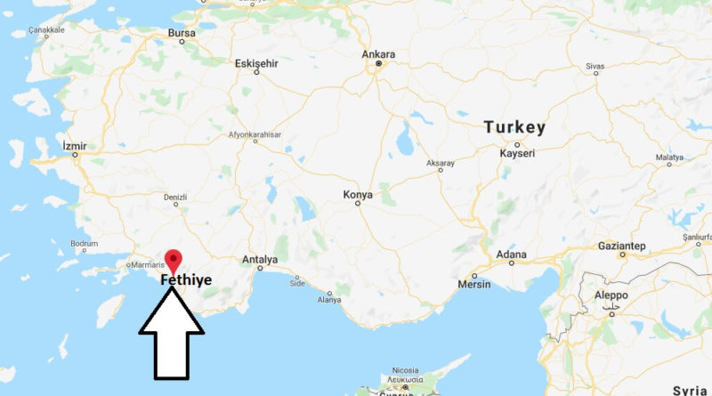 Where is Fethiye Located? What Country is Fethiye in? Fethiye Map