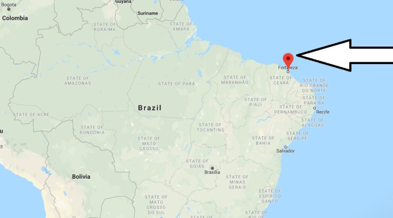 Where is Fortaleza Located? What Country is Fortaleza in? Fortaleza Map