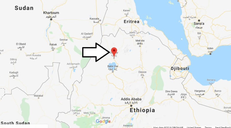 Where is Gondar Located? What Country is Gondar in? Gondar Map