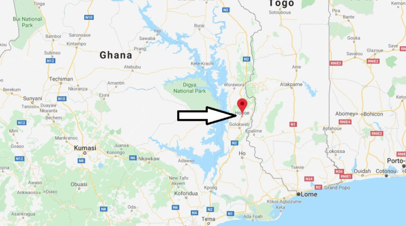 Where is Hohoe Located? What Country is Hohoe in? Hohoe Map