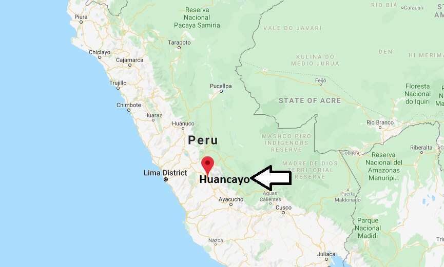 Where is Huancayo Located? What Country is Huancayo in? Huancayo Map