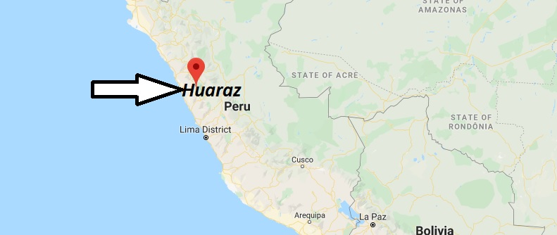 Where is Huaraz Located? What Country is Huaraz in? Huaraz Map