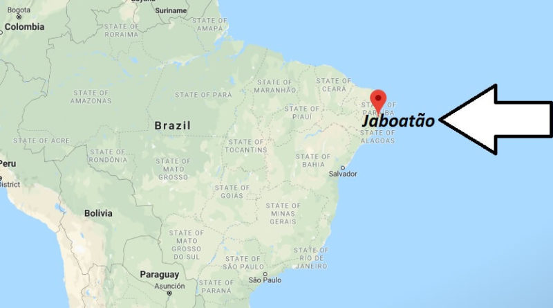 Where is Jaboatão Located? What Country is Jaboatão in? Jaboatão Map