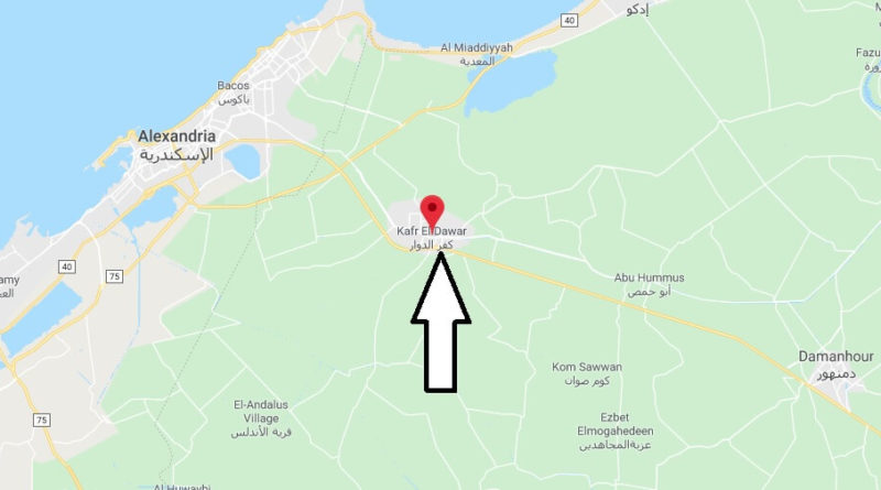 Where is Kafr ad Dawwar Located? What Country is Kafr ad Dawwar in? Kafr ad Dawwar Map