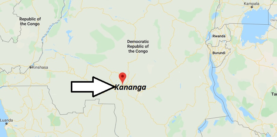 Where is Kananga Located? What Country is Kananga in? Kananga Map