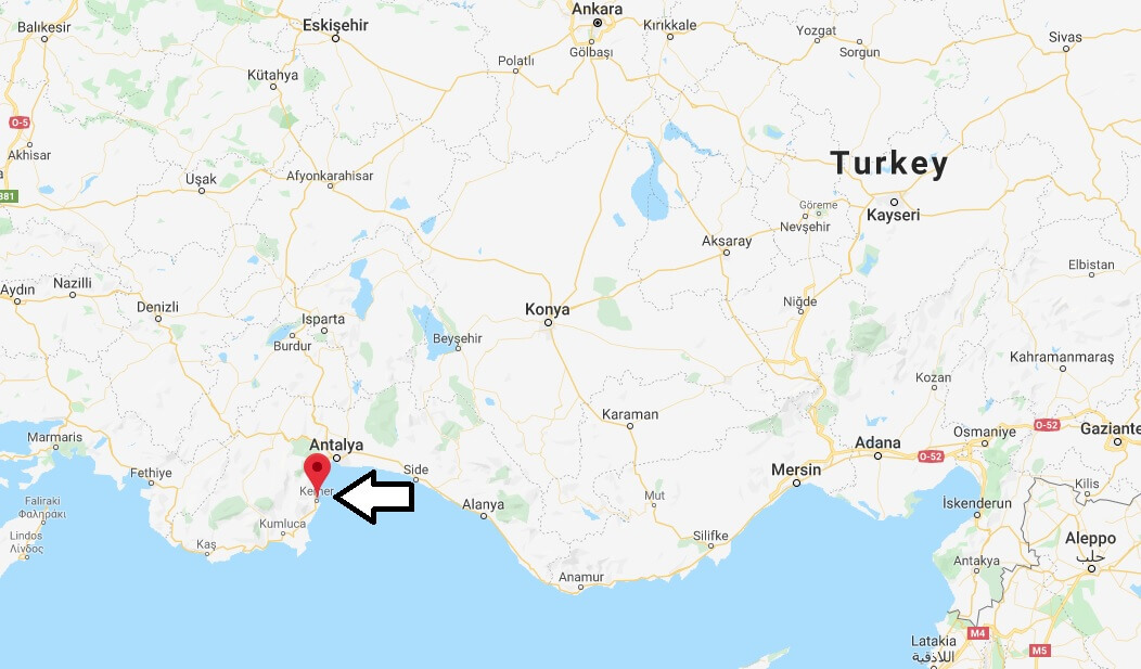 Where is Kemer Located? What Country is Kemer in? Kemer Map