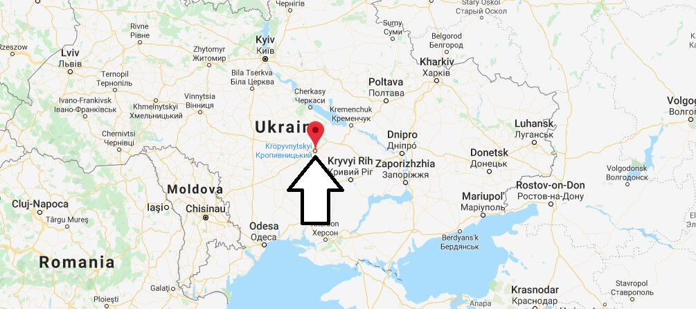 Where is Kropyvnytskyi Located? What Country is Kropyvnytskyi in? Kropyvnytskyi Map