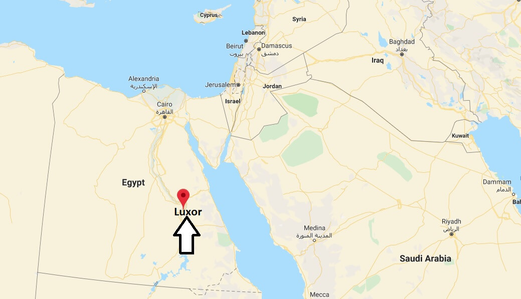Where is Luxor Located? What Country is Luxor in? Luxor Map