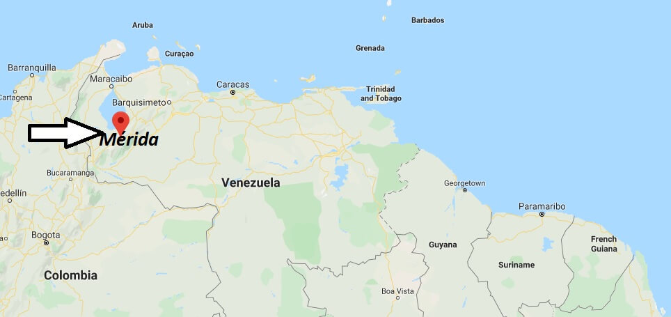 Where is Mérida, Venezuela Located? What Country is Mérida in? Mérida Map