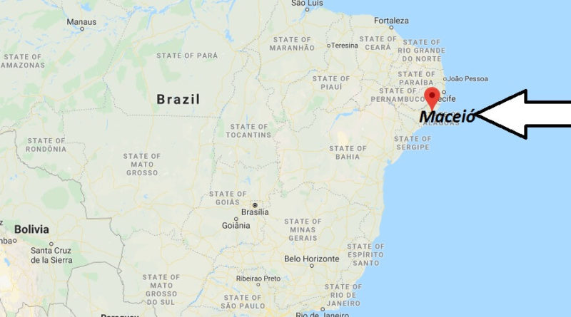 Where is Maceió Located? What Country is Maceió in? Maceió Map