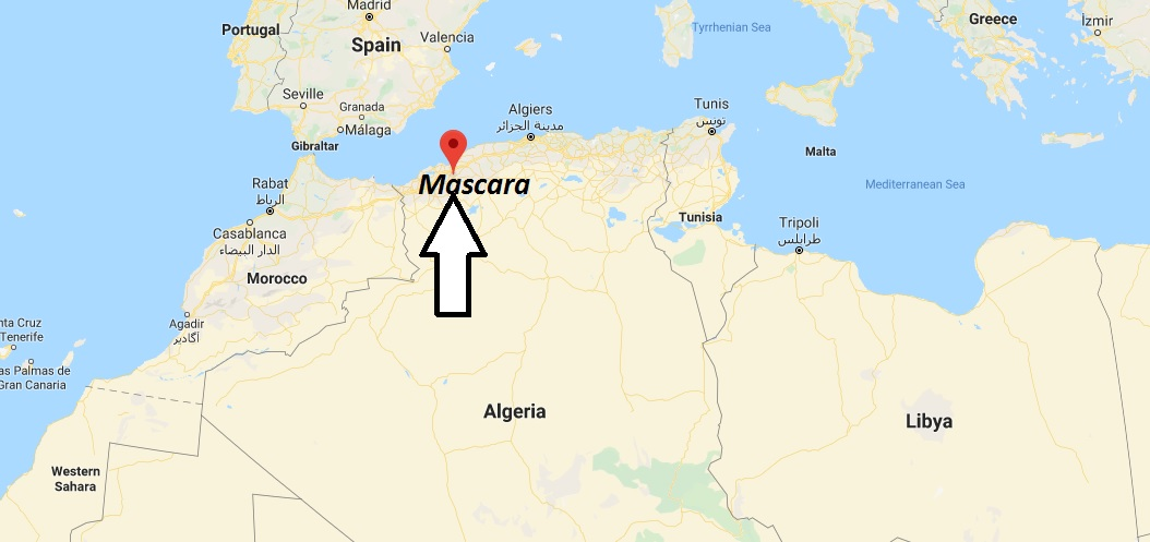 Where is Mascara Located? What Country is Mascara in? Mascara Map