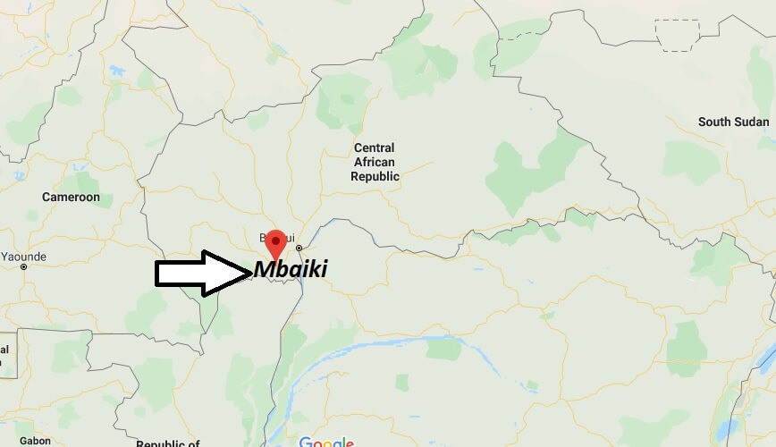 Where is Mbaiki Located? What Country is Mbaiki in? Mbaiki Map