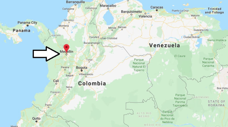 Where is Medellin Located? What Country is Medellin in? Medellin Map