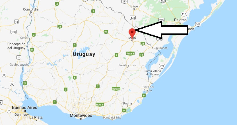 Where is Melo, Uruguay Located? What Country is Melo in? Melo Map
