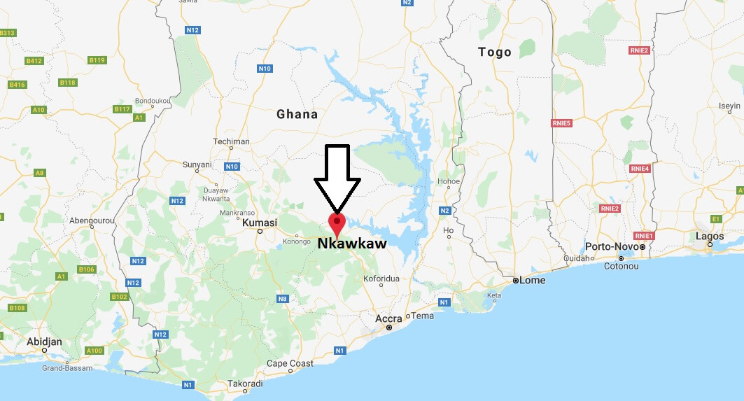 Where is Nkawkaw Located? What Country is Nkawkaw in? Nkawkaw Map