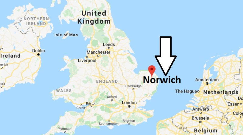 Where is Norwich Located? What Country is Norwich in? Norwich Map
