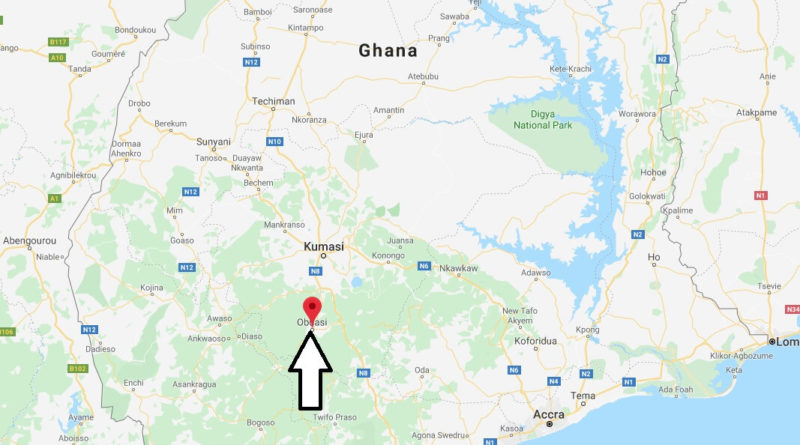 Where is Obuasi Located? What Country is Obuasi in? Obuasi Map