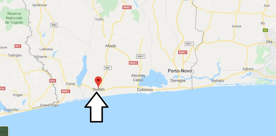 Where is Ouidah Located? What Country is Ouidah in? Ouidah Map