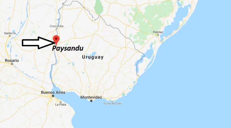 Where is Paysandu Located? What Country is Paysandu in? Paysandu Map