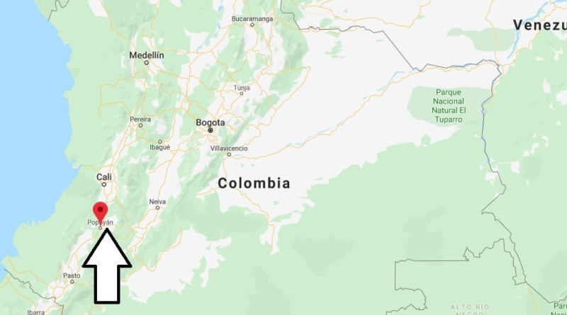Where is Popayan Located? What Country is Popayan in? Popayan Map