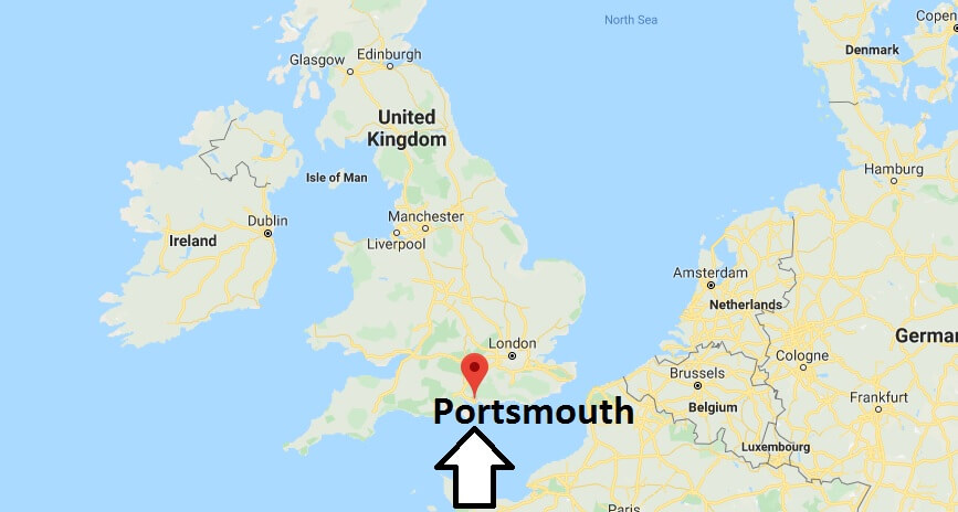 Where is Portsmouth Located? What Country is Portsmouth in? Portsmouth Map