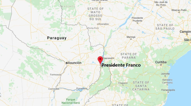 Where is Presidente Franco Located? What Country is Presidente Franco in? Presidente Franco Map