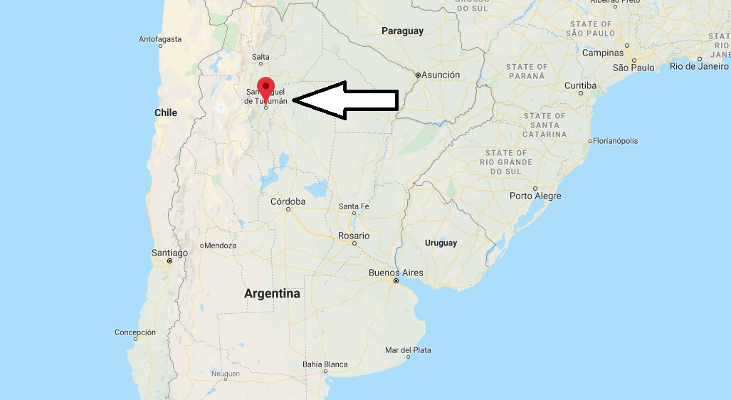 Where is San Miguel de Tucuman Located? What Country is San Miguel de Tucuman in? San Miguel de Tucuman Map