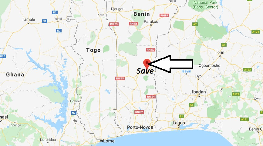 Where is Save Located? What Country is Save in? Save Map
