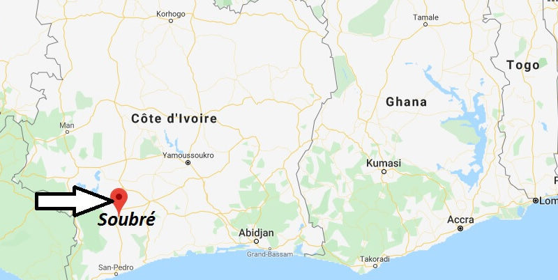Where is Soubré Located? What Country is Soubré in? Soubré Map