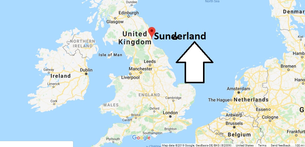 Where is Sunderland Located? What Country is Sunderland in? Sunderland Map