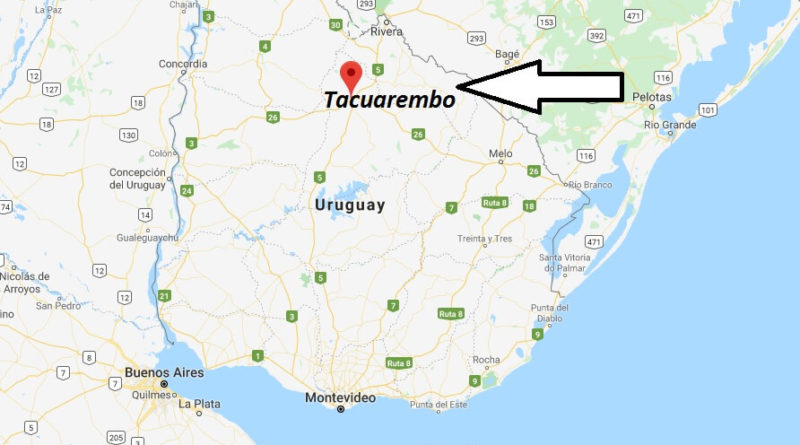 Where is Tacuarembo Located - What Country is Tacuarembo in - Tacuarembo Map