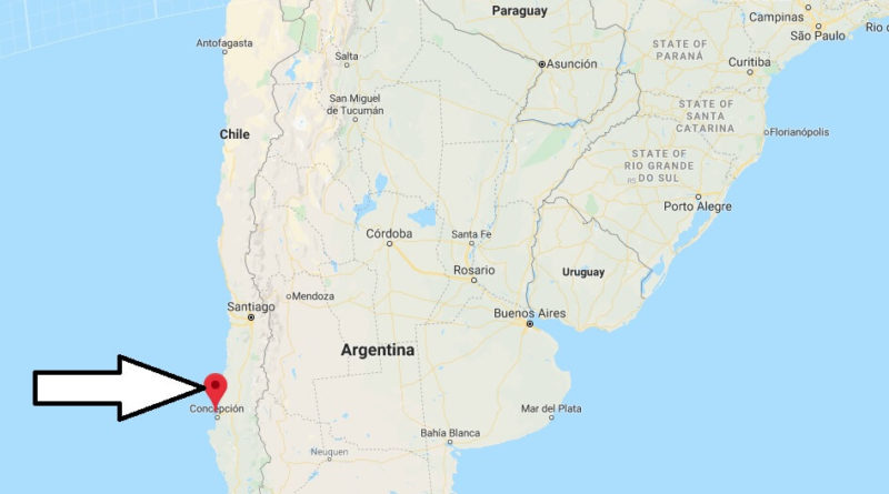 Where is Talcahuano (Chile) Located? What Country is Talcahuano in? Talcahuano Map