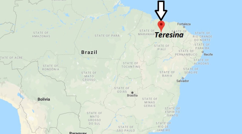 Where is Teresina Located? What Country is Teresina in? Teresina Map