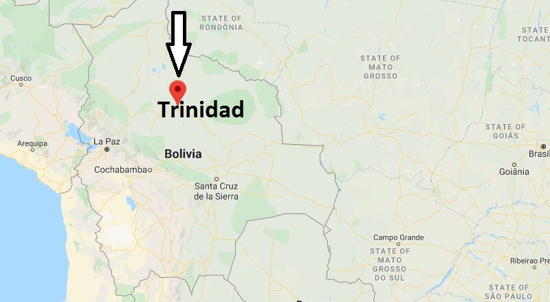 Where is Trinidad, Bolivia Located? What Country is Trinidad in? Trinidad Map