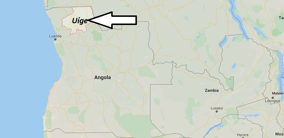 Where is Uíge Located? What Country is Uíge in? Uíge Map
