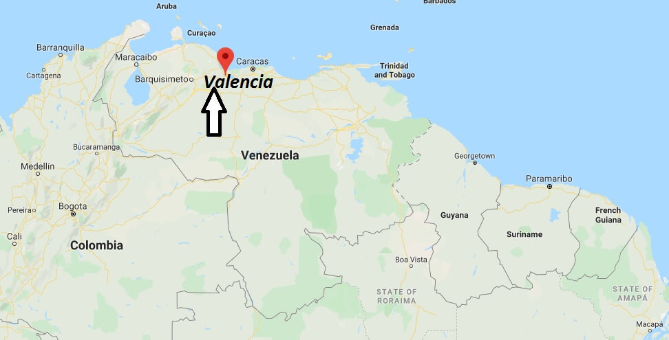 Where is Valencia, Venezuela Located? What Country is Valencia in? Valencia Map