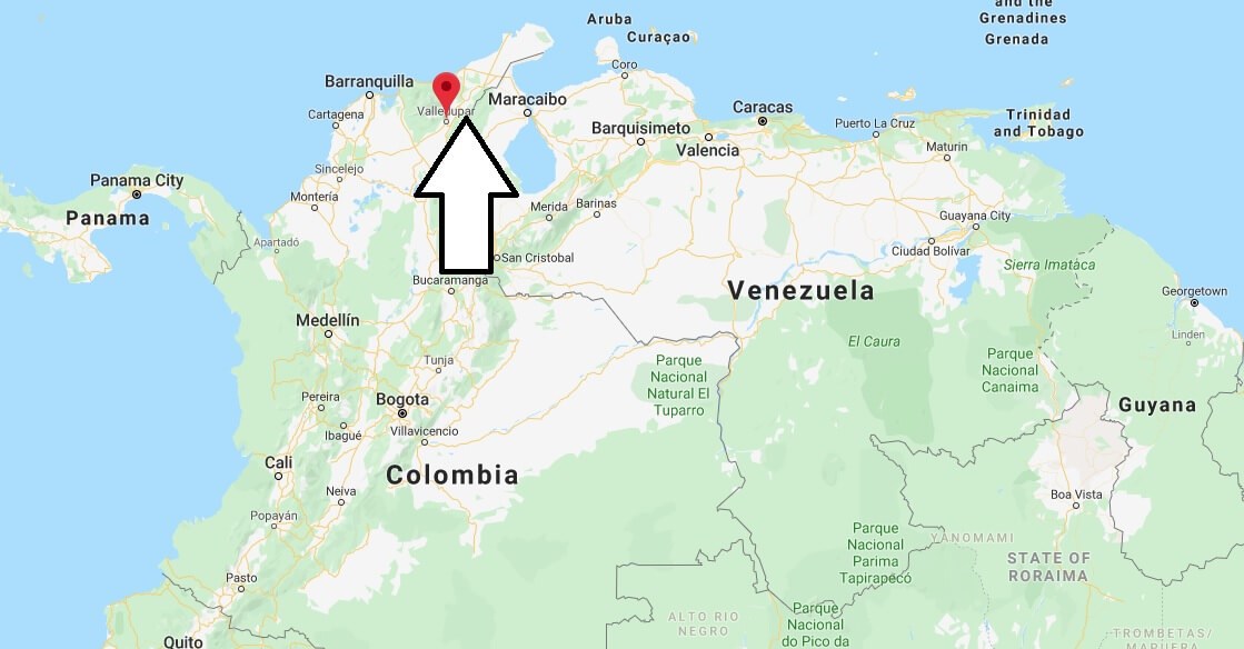 Where is Valledupar Located? What Country is Valledupar in? Valledupar Map