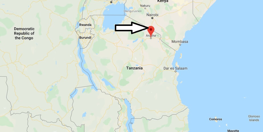 Where is Arusha Located? What Country is Arusha in? Arusha Map