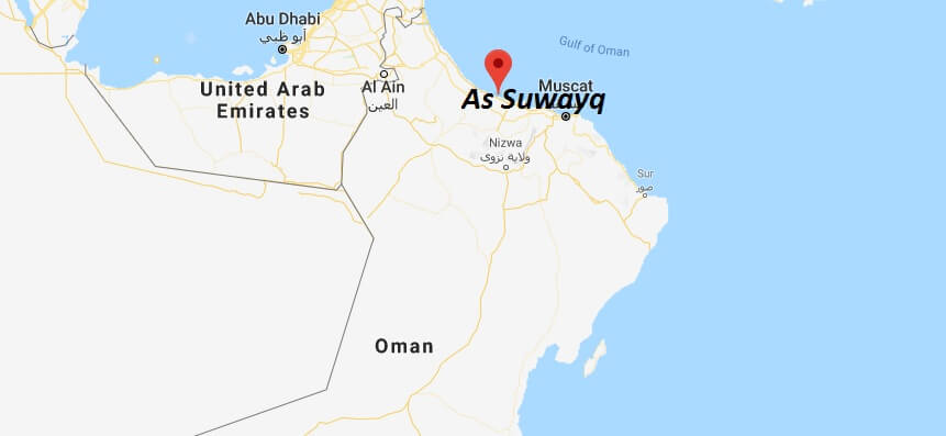 Where is As Suwayq Located? What Country is As Suwayq in? As Suwayq Map