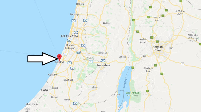 Where is Ashdod Located? What Country is Ashdod in? Ashdod Map