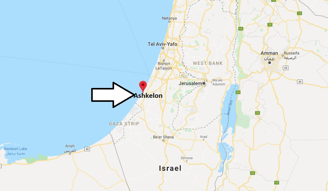Where is Ashkelon Located? What Country is Ashkelon in? Ashkelon Map
