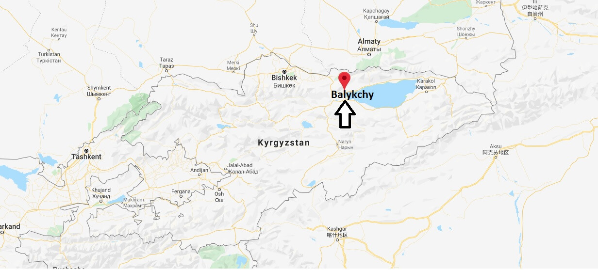 Where is Balykchy Located? What Country is Balykchy in? Balykchy Map