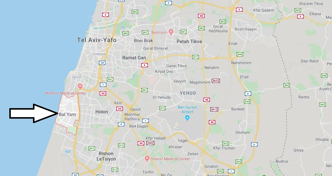 Where is Bat Yam Located? What Country is Bat Yam in? Bat Yam Map