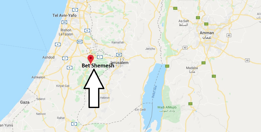 Where is Bet Shemesh Located? What Country is Bet Shemesh in? Bet Shemesh Map
